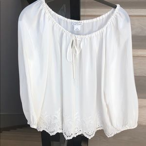 Club Monaco Tops - Club Monaco blouse with embroidered detail